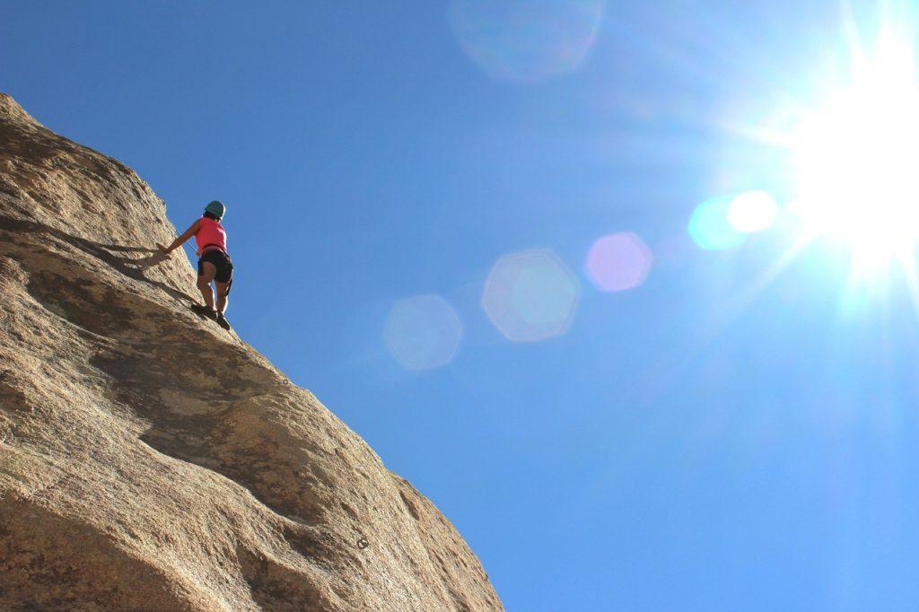 climber, rock, wall