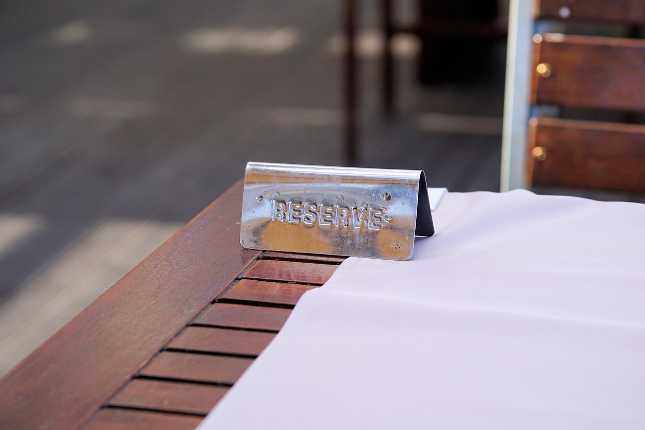 restaurant, table, reserved