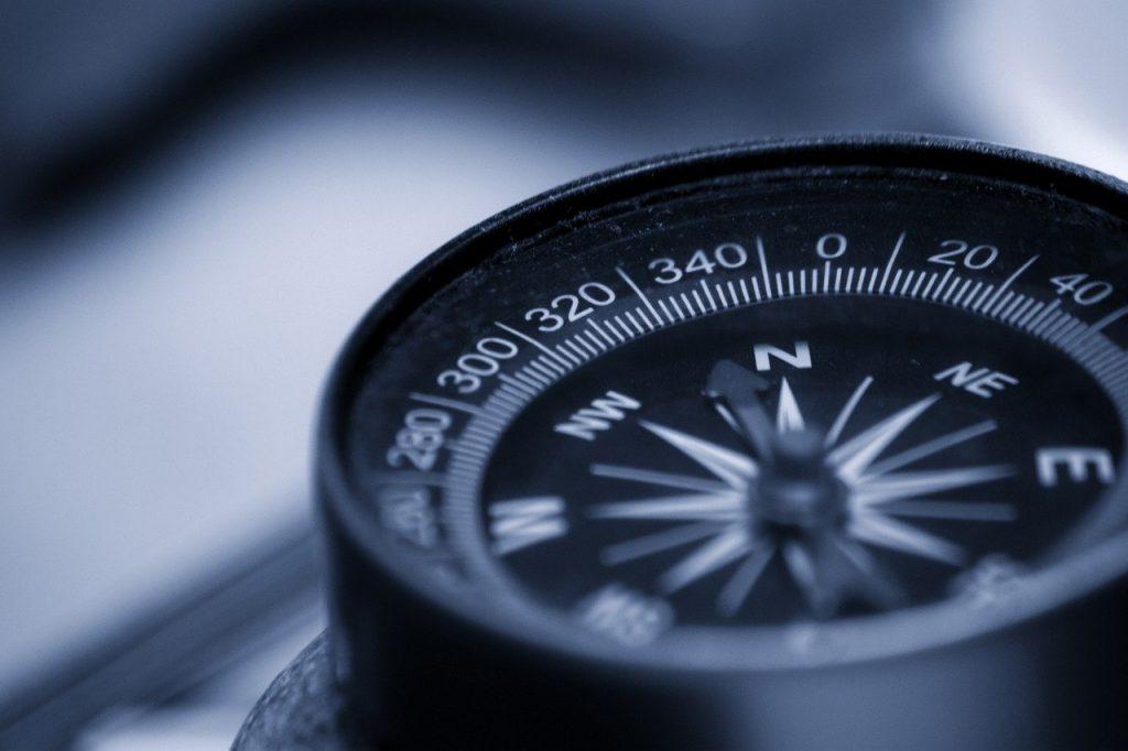 compass, orientation, map